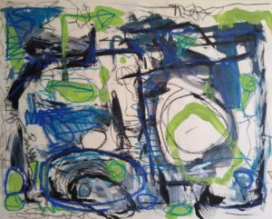 Abstract expression painting