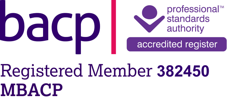Registered member BACP logo